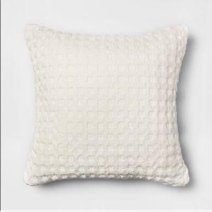 Threshold Cream Waffle Square Throw Pillow